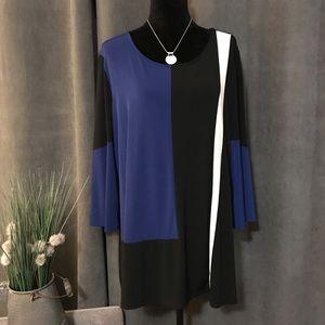 Alfani Woman Geometric Print Tunic, Size 3X